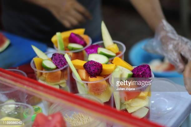 exotic fruit salad, malaysia - クアラルンプール ストックフォトと画像