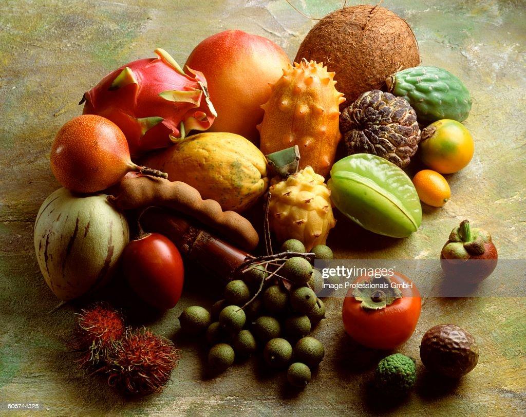 Exotic fruit still life : Foto de stock