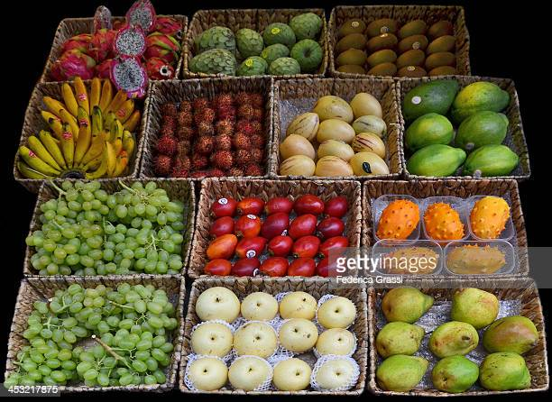 exotic fruits - pepino stock pictures, royalty-free photos & images