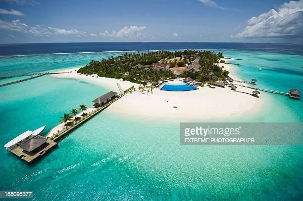 Exotische Insel der Malediven