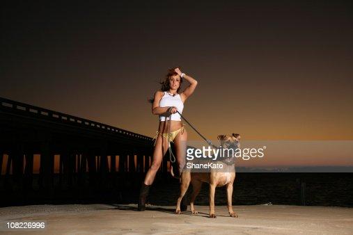 girl sexy dog