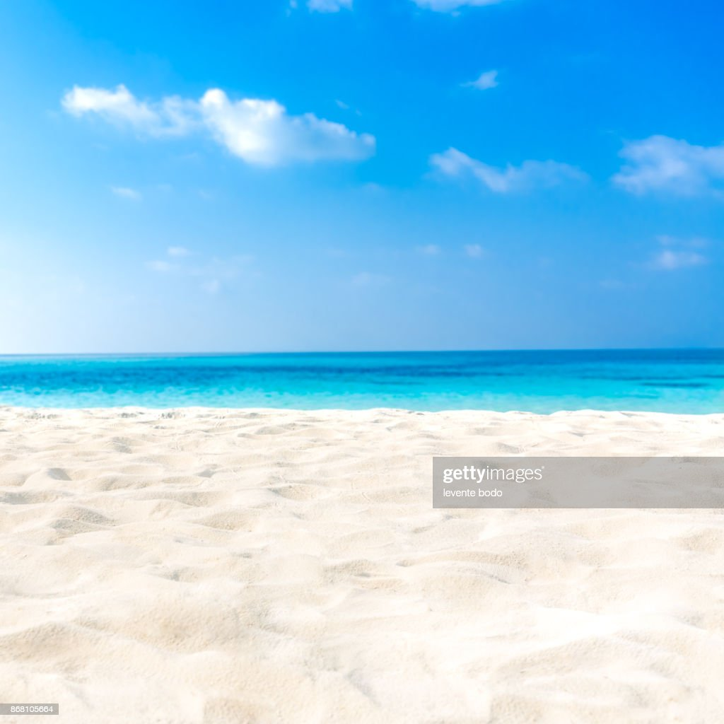 Tropical Beaches: Exotic Tropical Beach Landscape For Background Or