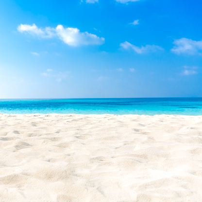 Exotic tropical beach landscape for background or wallpaper. Design of tourism for summer vacation holiday destination concept. - gettyimageskorea