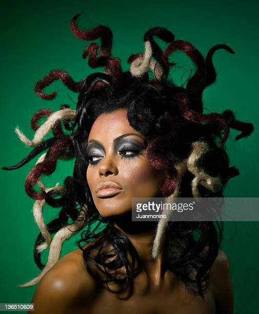 exotic woman - medusa stock photos and pictures