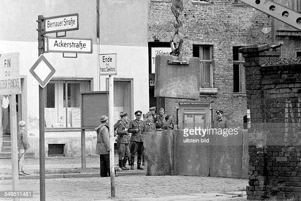Expansion of the Berlin Wall at the corner Bernauer Strasse / Ackerstrasse
