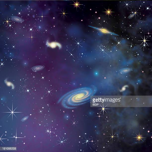 Expansion Of The Universe Stage 1 Illustration Of Friedmann's Big Bang Theory According To Friedmann Who Studied Einstein's Equations The Matter Is...