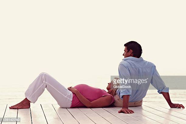 Expecting couple spending time together