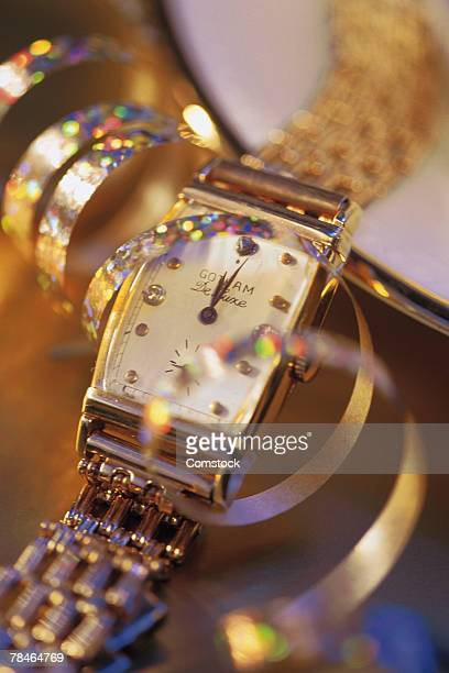 Expensive wristwatch with streamer