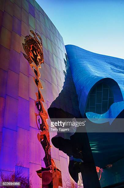 experience music project abstract lines and colors - エクスペリエンスミュージックプロジェクト ストックフォトと画像