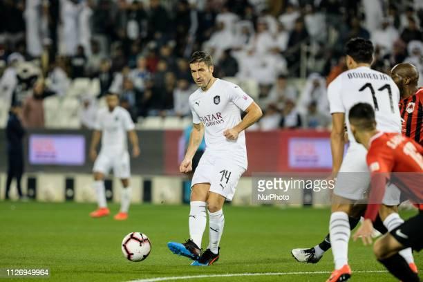 Experienced Al Sadd midfielder, Gabi, passes the ball during his sides 0-4 win over Al Rayyan at the Jassim Bin Hamad Stadium in Doha, Qatar on...