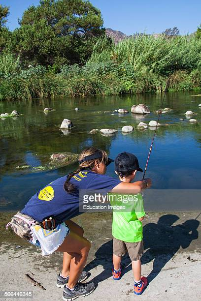 Experienced anglers, kids and those wishing to learn to fish attend The first annual Off tha' Hook fly fishing event held on September 6, 2014 on the...
