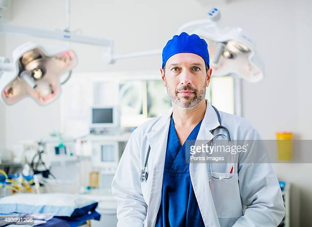 Experienced doctor in hospital operating room