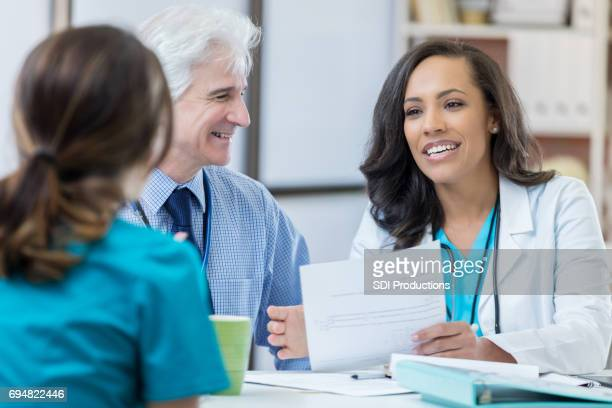 Experienced doctors interview nursing candidate