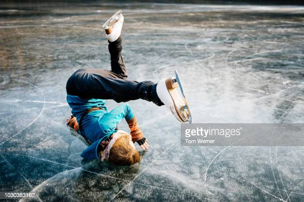 Experienced Figure Skater Performing Complex Manoeuvre