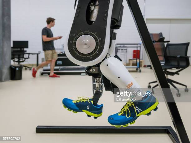 Experiment with electrically powered exoskeleton Varileg at research lab of ETH Zurich