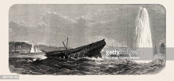Blowing Up Of The Terpsichore Explosion Of One Of The Other Torpedoes 1865