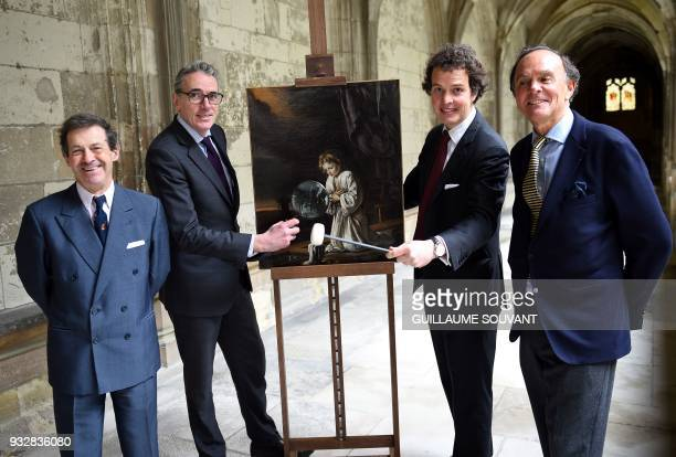 Experts in old paintings EricTurquin and Stephane Pinta with auctioneers Aymeric and Philippe Rouillac unveil an unknown and unpublished painting by...