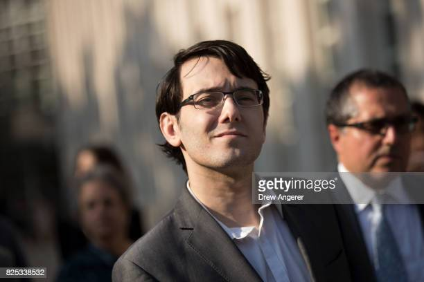 Expharmaceutical executive Martin Shkreli departs the US District Court for the Eastern District of New York August 1 2017 in the Brooklyn borough of...
