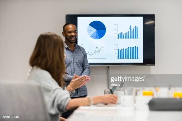 explaining project - projection screen stock photos and pictures