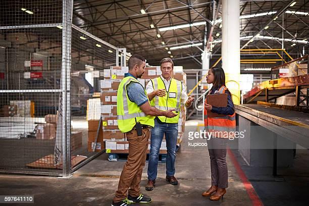 Explaining the shipping job at hand