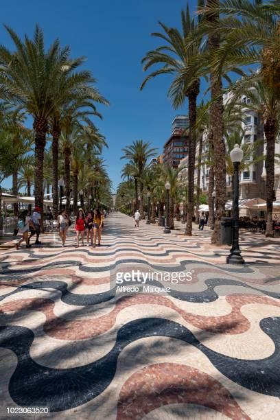 explanada de españa promenade, alicante, comunidad valenciana, spain - alicante stock pictures, royalty-free photos & images