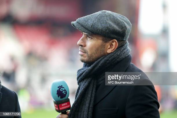 Explayer now TV pundit Stan Collymore during the Premier League match between AFC Bournemouth and Arsenal FC at Vitality Stadium on November 25 2018...