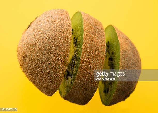 Exploded kiwi fruit