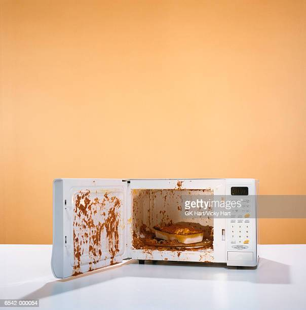 Exploded Meal in Microwave