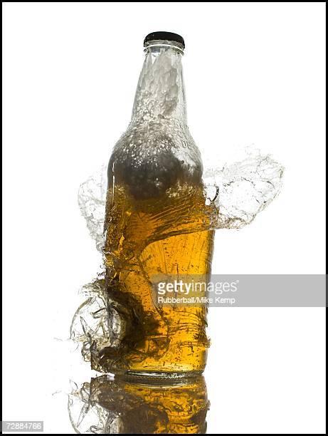 Exploding beer bottle