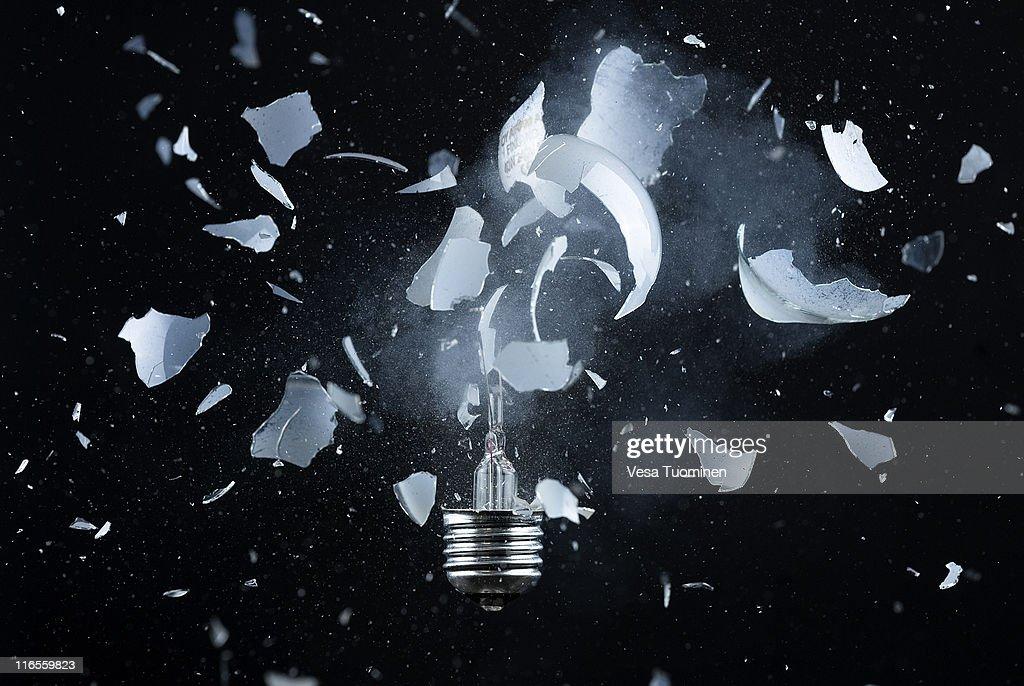 Exploding bulb : Stock Photo