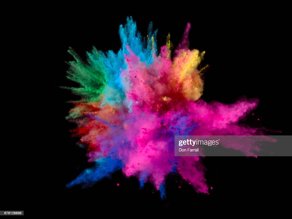 Exploding Colored Powder : Stock Photo