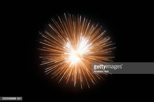 Exploding fireworks against black night sky