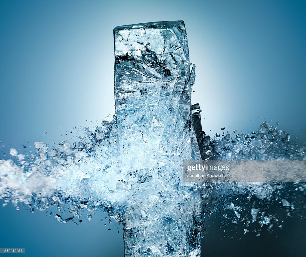 Exploding Ice : Stock Photo