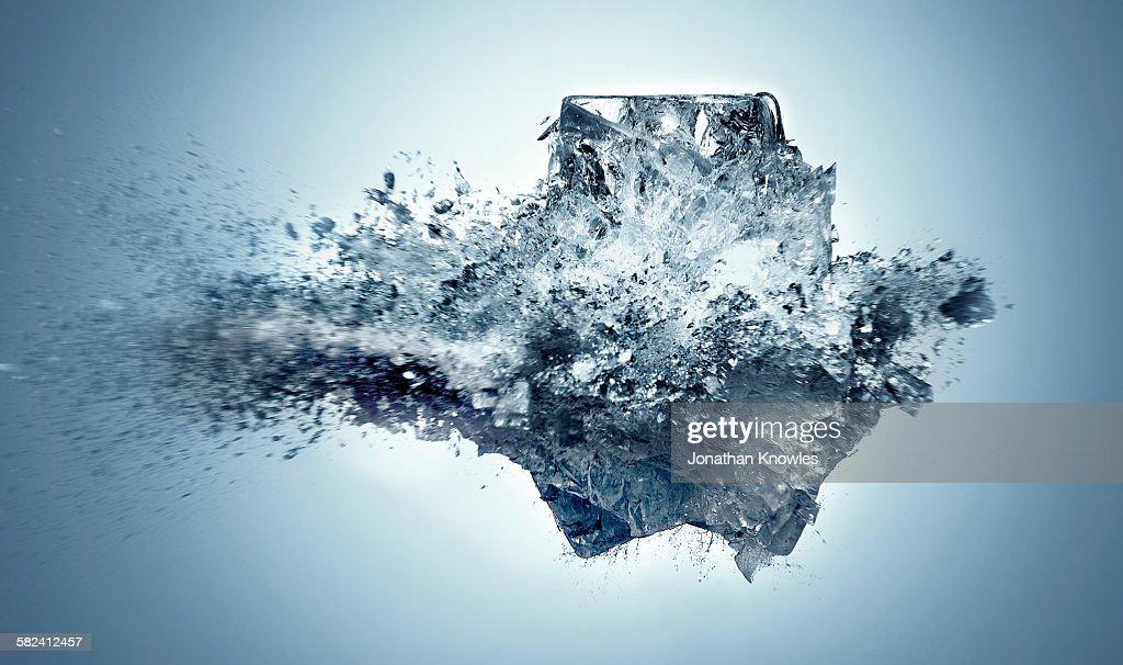 Exploding Ice : Stock Photo