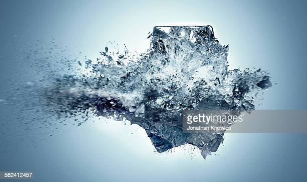 exploding ice - ice stock pictures, royalty-free photos & images