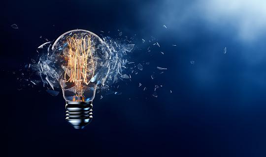 Exploding Light Bulb 533334866