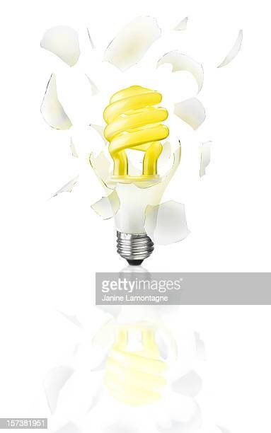 Exploding Light Bulb with clipping Path