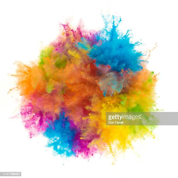 exploding multi colored powder - don farrall stock pictures, royalty-free photos & images