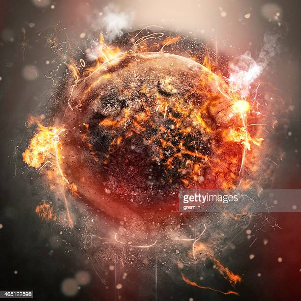 exploding planet - lava stock pictures, royalty-free photos & images