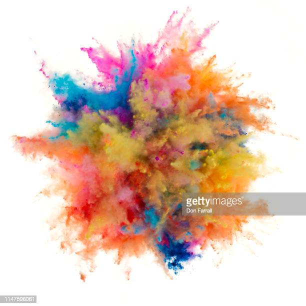 exploding powder - don farrall stock pictures, royalty-free photos & images