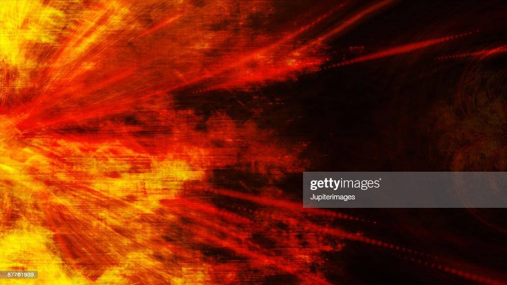 Exploding solar flare : Stock Photo
