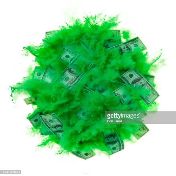 exploding us currency - don farrall stock pictures, royalty-free photos & images