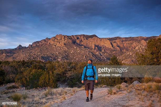 explore new mexico nature man hiking