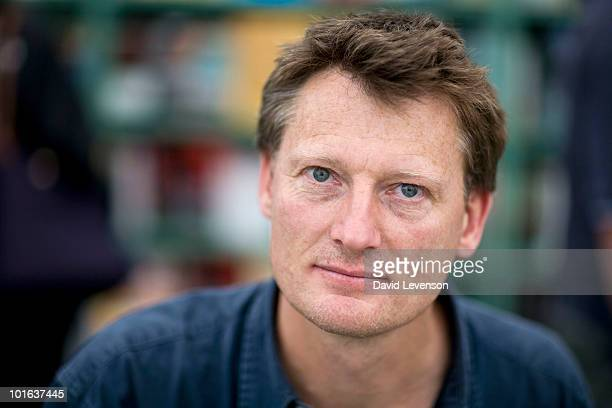 Explorer and author Benedict Allen poses for a portrait at The Hay Festival on June 5 2010 in HayonWye Wales
