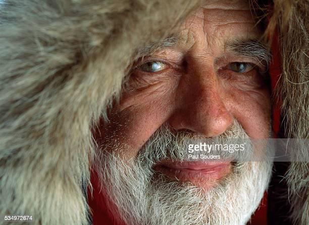 explorer and dog musher norman vaughan, alaska - fur trim stock pictures, royalty-free photos & images