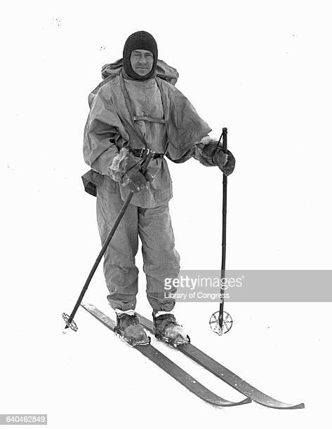Explorer Robert Falcon Scott Wearing Skis