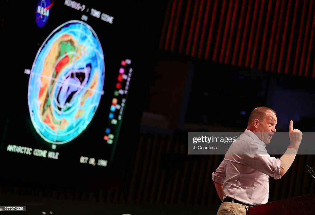 Explorer Robert Swan speaks at the Novus Summit at the United Nations on July 17, 2016 in New York City.