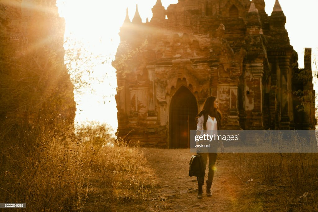 Exploring Bagan Myanmar : Stock Photo