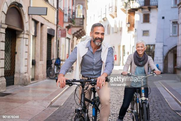 exploring city with bicycle - europe stock pictures, royalty-free photos & images