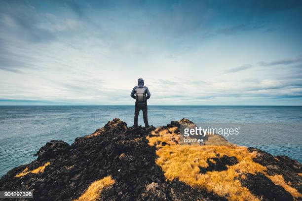 exploring iceland - cliff stock pictures, royalty-free photos & images